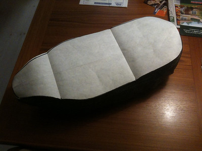 Making a pattern for the seat base.