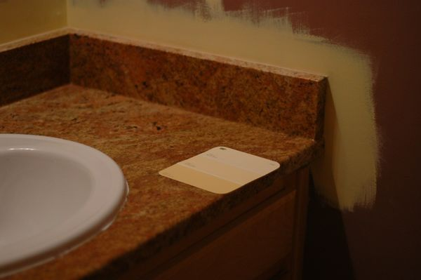 The new countertop.  Probable paint color is the darkest shade on the chip shown.