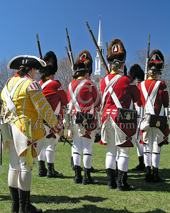 Grenadiers On The Green Across From Church