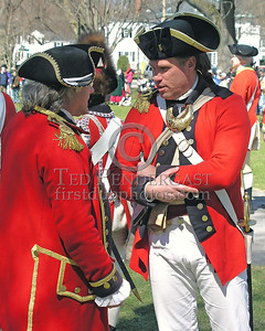 Two Officers Discuss Strategy On The Battlefield