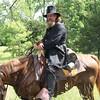 This horseback fighter waved the white flag of surrender