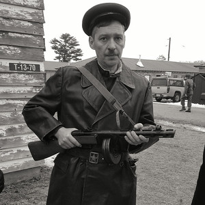 Russian with his PPSH