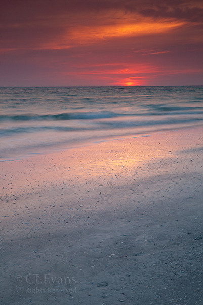 Indian Shores at sunset