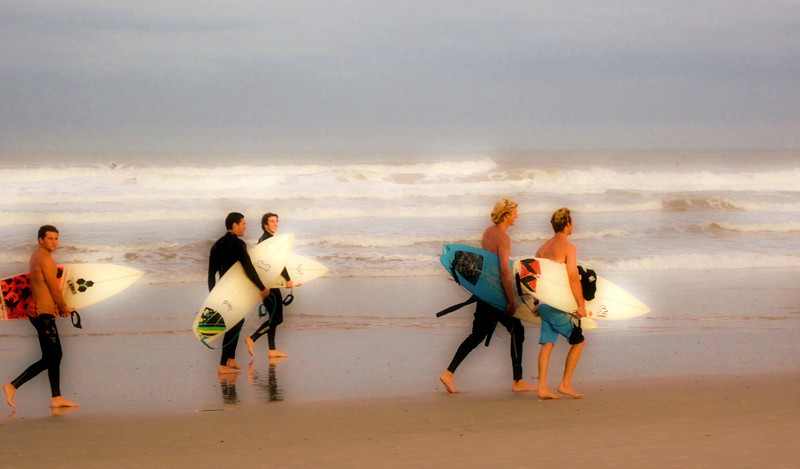 What do you call a group of young male surfers? <br /> Fun to watch.