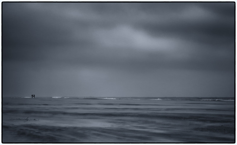 Trying to capture what a dreary, windy, completely monochromatic beach looks like. It is Chili weather! (which is cooking)