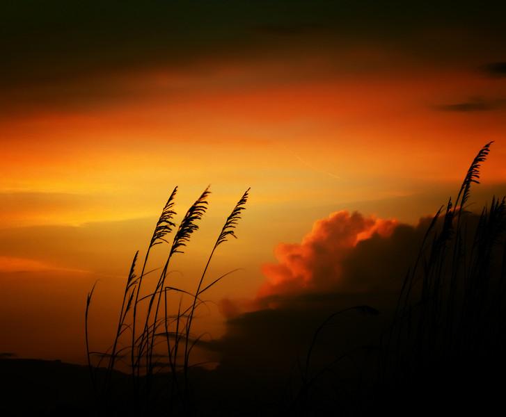 Sundown in St. Augustine Beach.