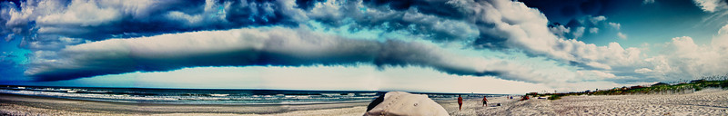 I stitched this panorama together from 6 photos.  This cloud bank passed over us leaving a big wind in its wake.