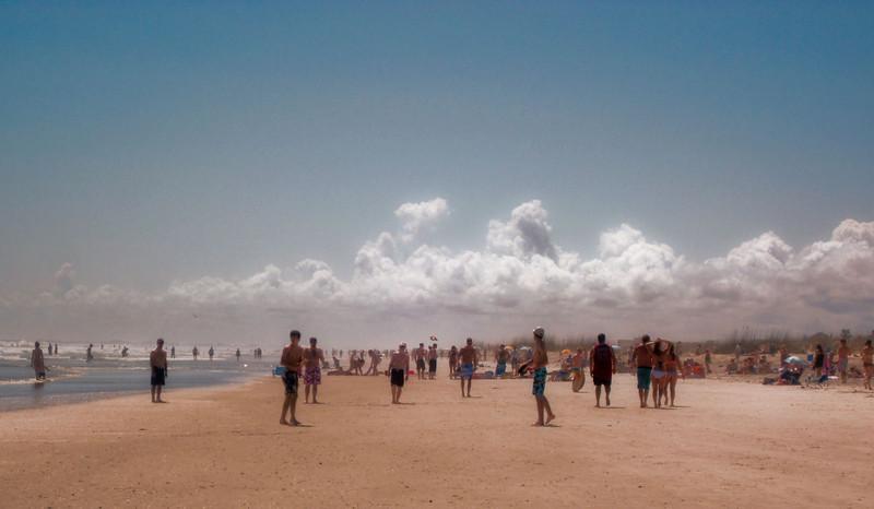 Spring Break + Beautiful Weather = Crowded Beach