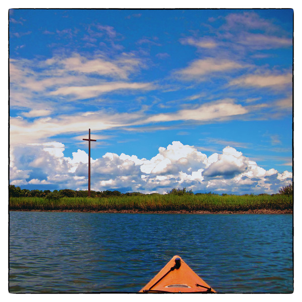 From my kayak trip yesterday. Even though rained on, the clouds were heavenly.