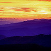 Sunset in the Smokey Mountains.