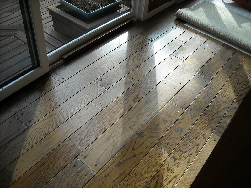 The old wood floors in the living room.  These were the most OK, but still quite warped.
