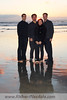 Family portrait sunset beach session at Del Mar.