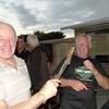 Gordon and Rod on the Bar B Q