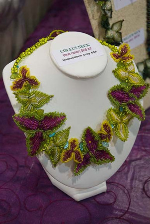"6/09:  ""Coleus,"" at Bead and Button Show"
