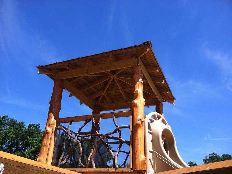Playground tree house roof