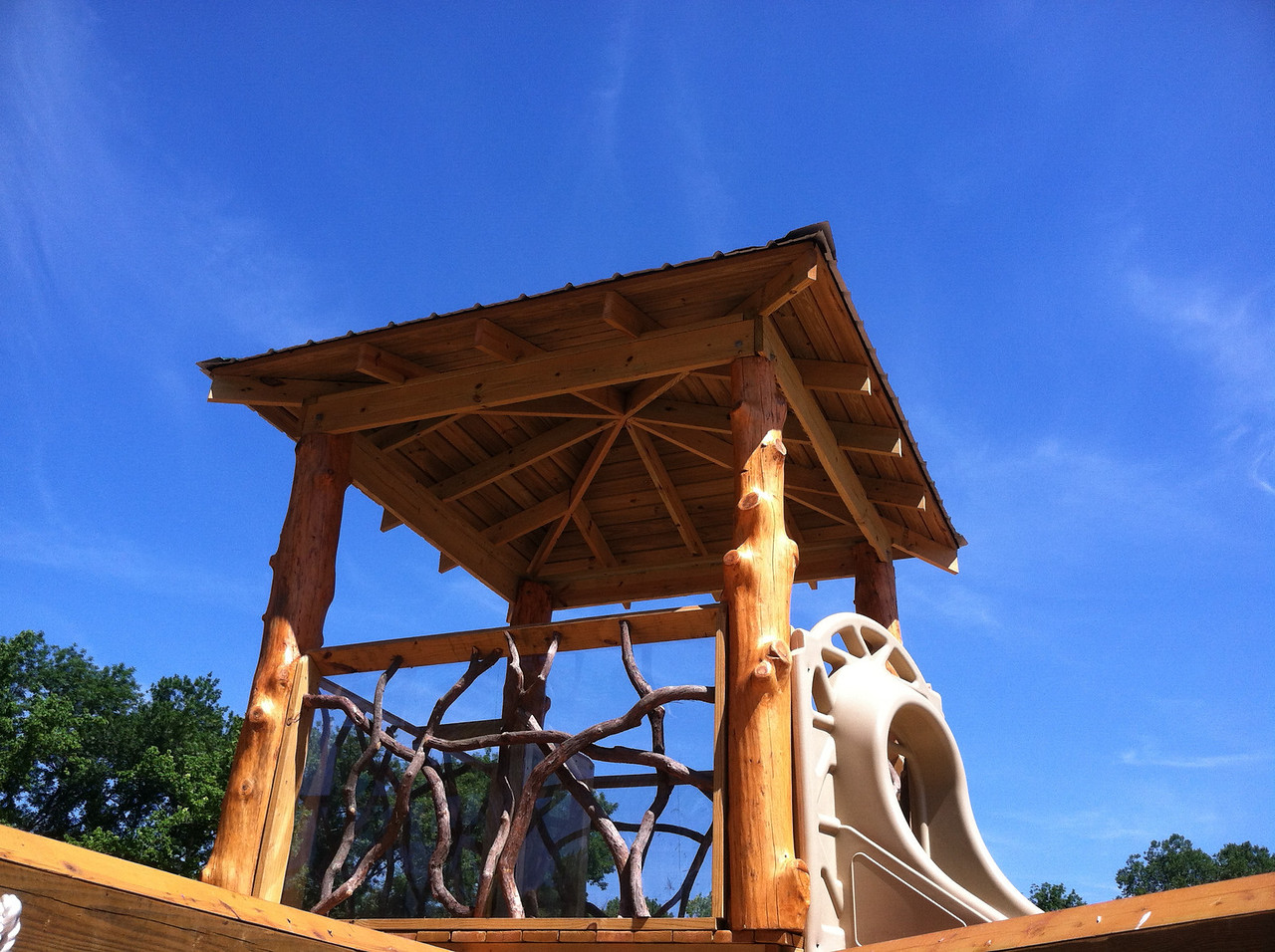Playground tree house roof