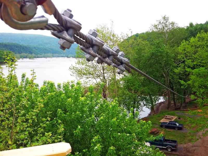 Zip line on Potomac River