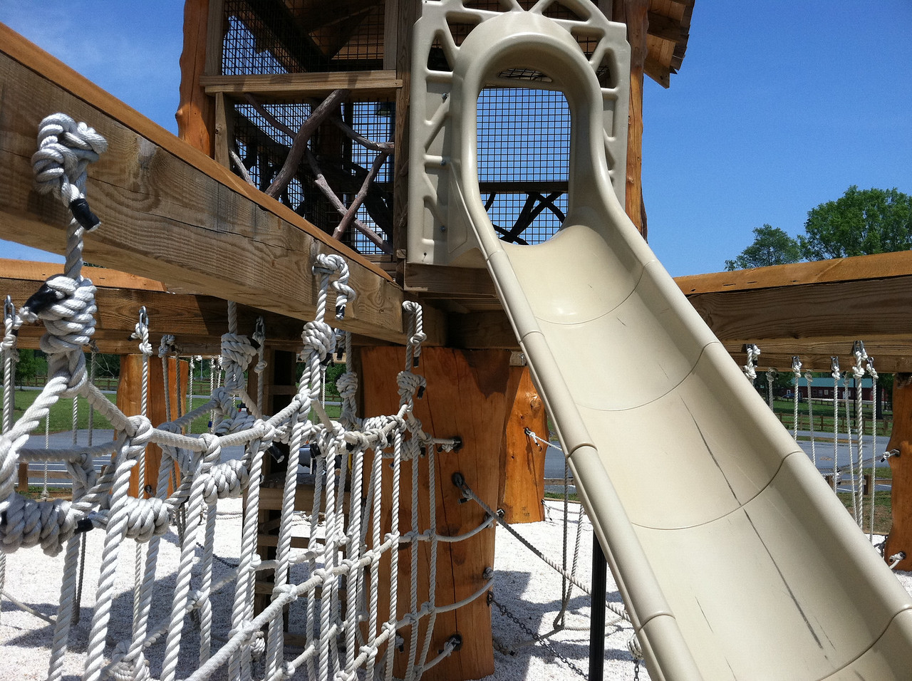 Slide from tree house