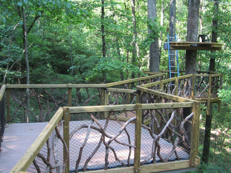 Overlook bridge and canopy walk