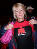 Dawn shows off not her upper deck but the IM-Wisconsin shirt that she wears in memory of Nancy.