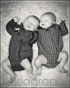 Twins on Fur bw-