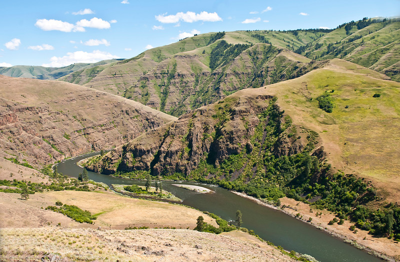 The rugged, deep canyon holds the Grande Ronde River in this June 13, 2012 photo.  It also holds some fine steelhead and spring chinook salmon fishing.