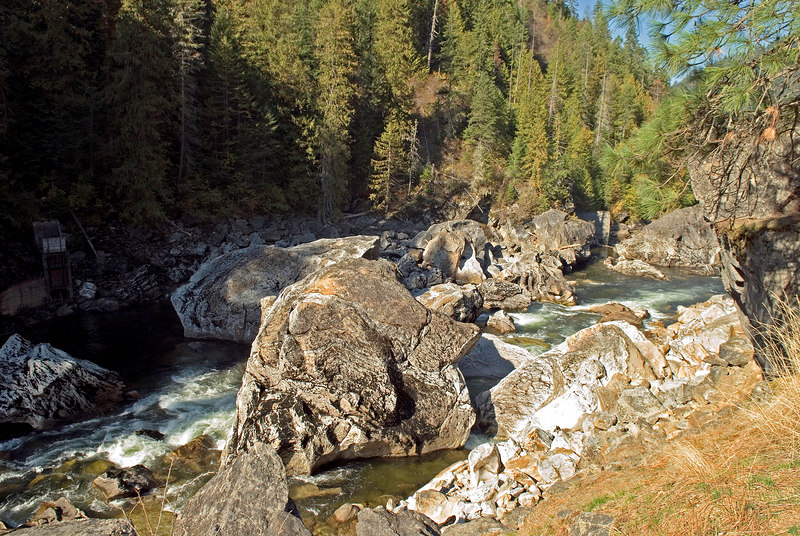 Jumble of boulders at the Selway Falls