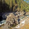 Jumble of boulders at the Selway Falls