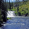 Lewis Falls of Lewis River in Yellowstone Park
