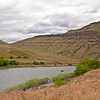 Looking upstream on the Grande Ronde just before it empties, behind the viewer, into the Snake River.  It carves quite a canyon through the massive basalt hillsides.  May 26, 2012