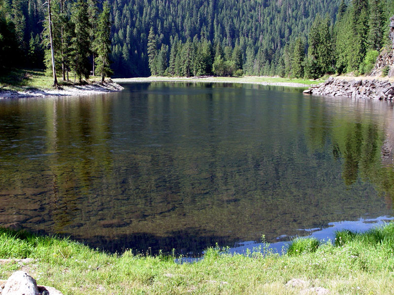 This is a beatiful pool on  the Selway River , a National Wild and Scenic River, and joins the Lochsa River to make up the Middle Fork of the Clearwater River.  .