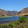 Another view of Heller Bar on the Snake River with junction of the Grande Ronde River coming in on immediate right.  Above here it is known as Hells Canyon of the Snake River. Photo August, 2008