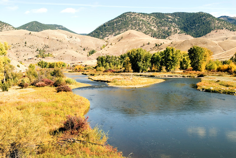 The Clark Fork River a few miles east of Missoula, MT and named for William Clark of  the epic journey by Lewis and Clark in 1805 to the Pacific and their return in 1806.