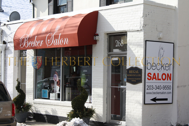 "Becker Salon<br /> 268 Mason Street<br /> Greenwich, CT 06830<br /> <a href=""http://www.beckersalon.com"">http://www.beckersalon.com</a><br /> 203 340-9550"