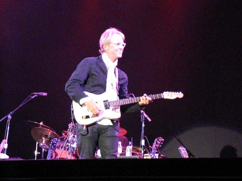 Beckley plays custom-made guitar