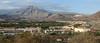 Landskapet innover i landet, mot vulkanen Teide