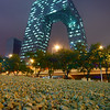 """CCTV Headquarters, also known as """"Big Shorts"""" of which the facade was completed in time for the Olympics."""