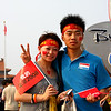 Chinese Olympic Enthusiasm in Tiananmen Square