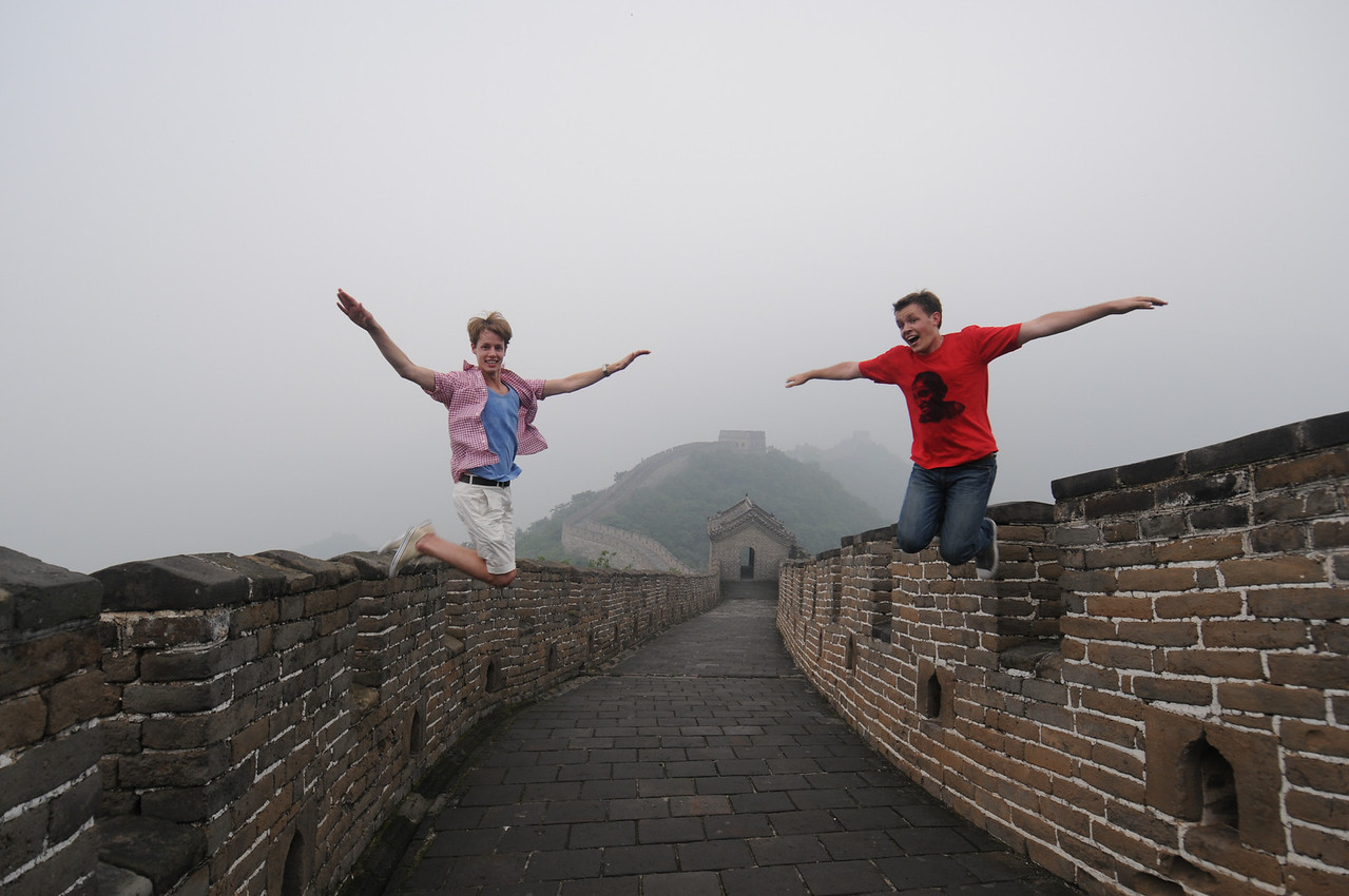 Our obligatory jump at a wonder of the world.