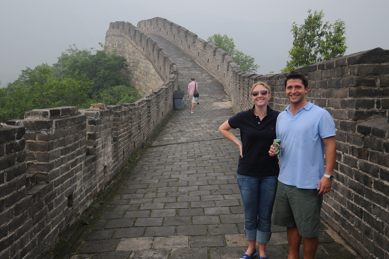 Detgen and Brian at the Great Wall