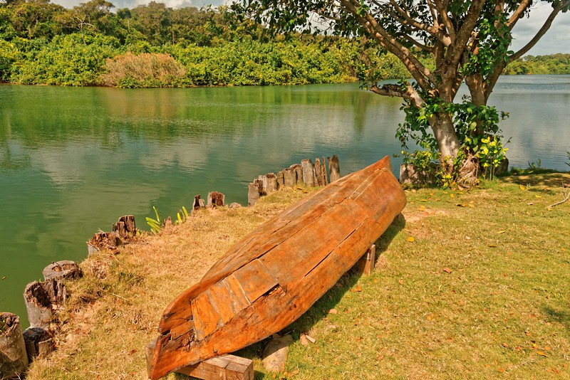 Frequently repaired dugout canoe - Sittee River