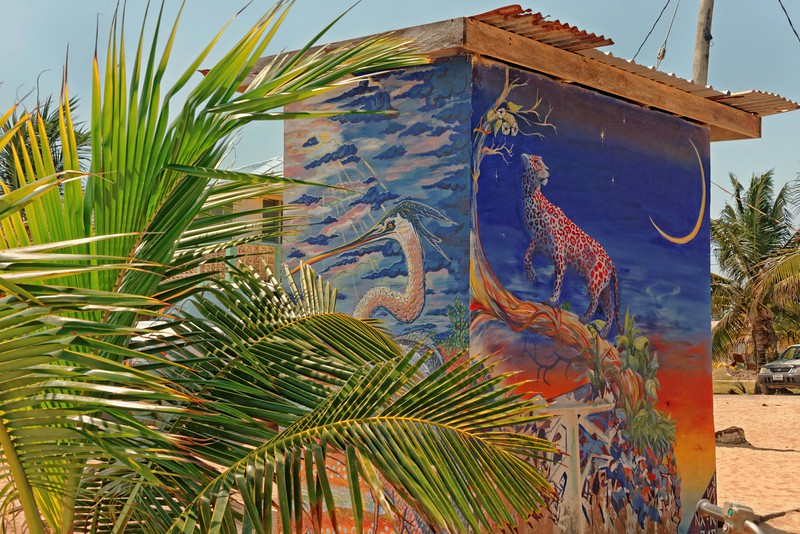Storage building - painting by Juan Kantor