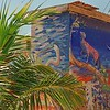 Storage building - painting by Juan Kantor