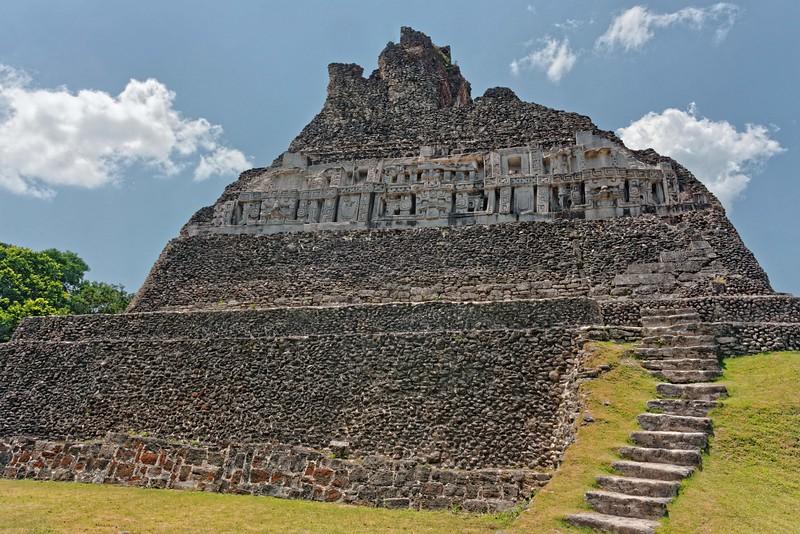 El Castillo at Xaunantunich Mayan Ruins.  130 feet high.