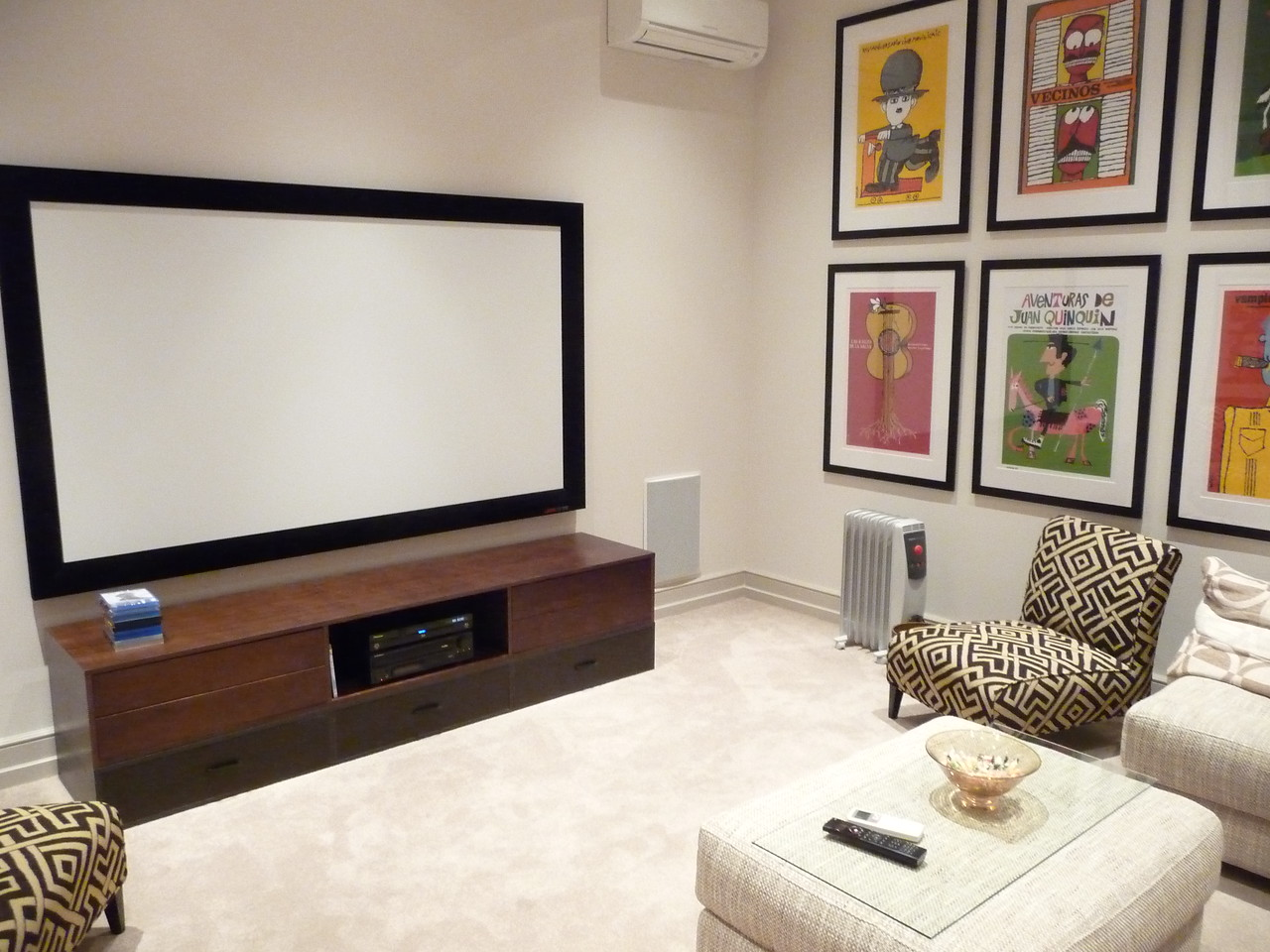 Cinema Room (Off of rear hallway)