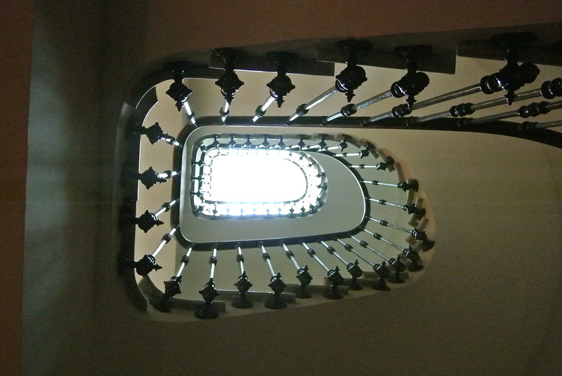 View up centre of stairwell