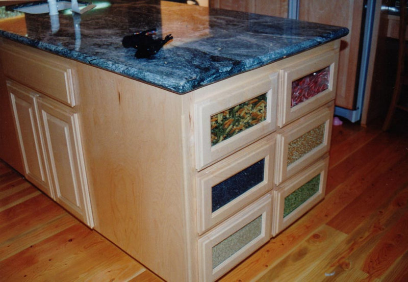 """Pasta Drawers"" with Glass Fronts"