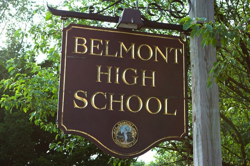 We are near Belmont High School.