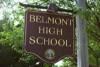 We are near Belmont High School.