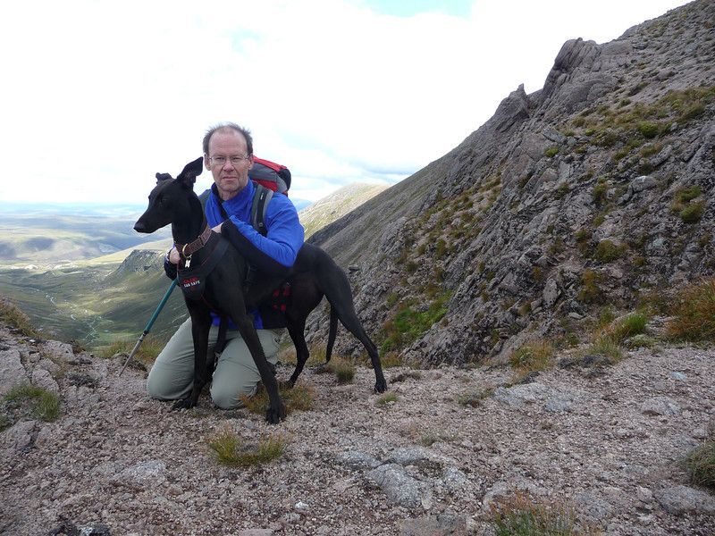 Emmy and myself at The Sneck between Beinn a'Bhuird and Ben Avon